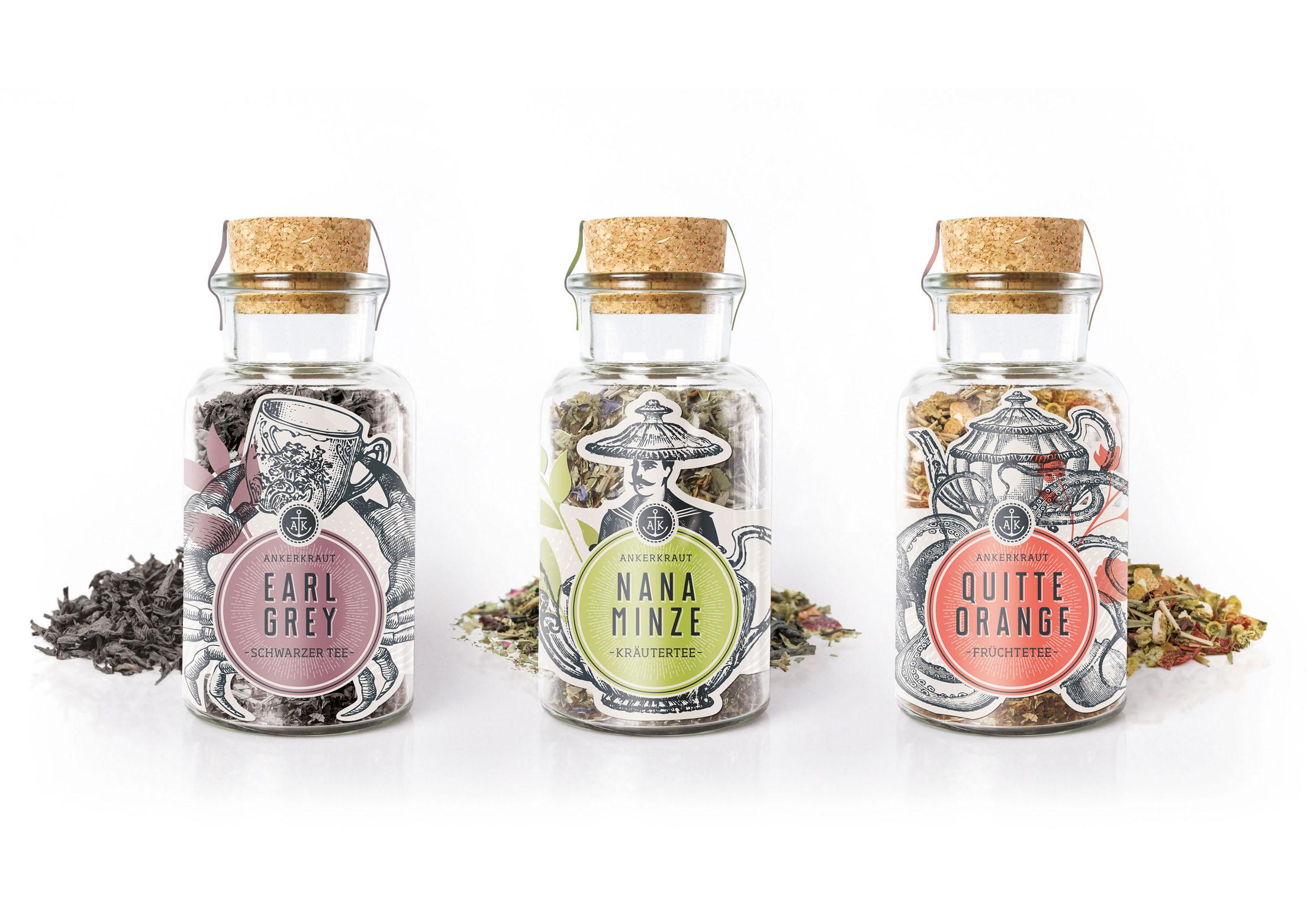 ankerkraut tee range winner packaging. Black Bedroom Furniture Sets. Home Design Ideas